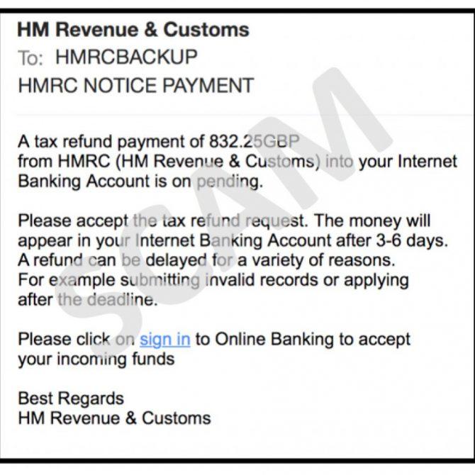 Scam HMRC email